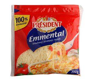 Président Emmental Strouhaný tvrdý sýr