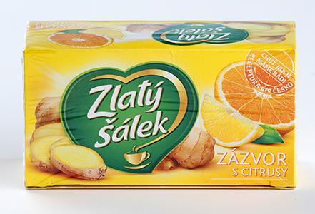 Zlatý šálek zázvor s citrusy