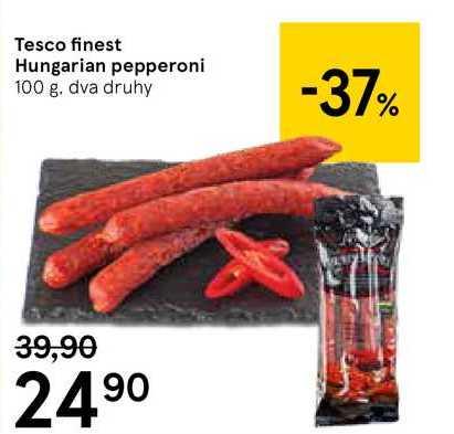 Tesco fnest Hungarian pepperoni, 100 g