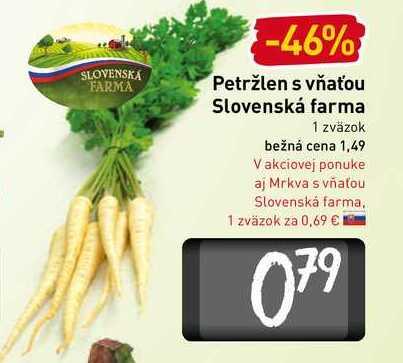 Petržlen s vňaťou Slovenská farma