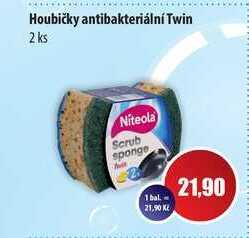 Houbičky antibakteriální Twin 2 ks