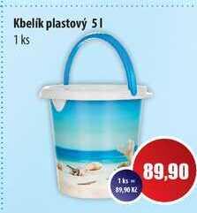 Kbelík plastový 5l 1 ks